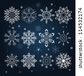 Set Of Snowflake Shapes...