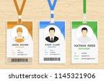 modern plastic id card template ... | Shutterstock .eps vector #1145321906