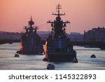 a line of modern russian... | Shutterstock . vector #1145322893