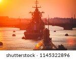a line of modern russian... | Shutterstock . vector #1145322896