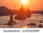 a line of modern russian... | Shutterstock . vector #1145322899