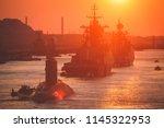 a line of modern russian... | Shutterstock . vector #1145322953