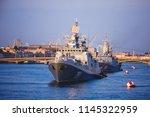 a line of modern russian... | Shutterstock . vector #1145322959