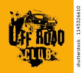 off road club logo. extreme... | Shutterstock .eps vector #1145326610
