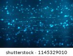 binary code background  digital ... | Shutterstock . vector #1145329010