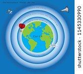 illustration of atmosphere... | Shutterstock .eps vector #1145330990