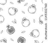 vegetable vector seamless...   Shutterstock .eps vector #1145332760