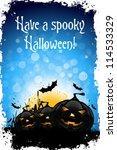 grungy halloween background... | Shutterstock .eps vector #114533329