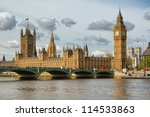 the big ben  the houses of... | Shutterstock . vector #114533863