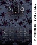 black new years of 2019... | Shutterstock .eps vector #1145344223