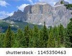 plattkofel and langkofel... | Shutterstock . vector #1145350463