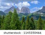 plattkofel and langkofel... | Shutterstock . vector #1145350466