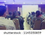 blurry business conference in...   Shutterstock . vector #1145350859