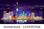 berlin germany skyline on a... | Shutterstock .eps vector #1145352566