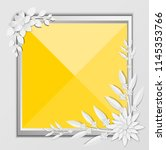 abstract white paper flowers ... | Shutterstock .eps vector #1145353766