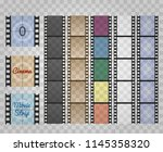 filmstrip on transparent. movie ... | Shutterstock .eps vector #1145358320