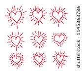 hand draw hearts icon design | Shutterstock .eps vector #1145363786