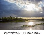 beautiful sun beams and sky... | Shutterstock . vector #1145364569