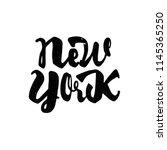 new york   hand drawn ... | Shutterstock . vector #1145365250