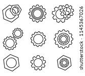 gear icons set. setting tools... | Shutterstock .eps vector #1145367026