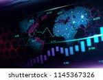 futuristic concept of global... | Shutterstock . vector #1145367326
