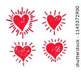 hand draw hearts icon design | Shutterstock .eps vector #1145372900