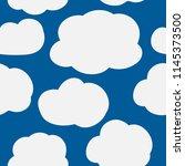 cloudy sky.cute clouds on dark...   Shutterstock .eps vector #1145373500