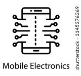 a circuit print embedded on... | Shutterstock .eps vector #1145376269