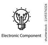 a light bulb with network nodes ... | Shutterstock .eps vector #1145376326