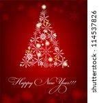 2013 new year postcard. raster... | Shutterstock . vector #114537826