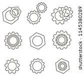 gear icons set. gray gears... | Shutterstock .eps vector #1145380289