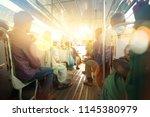 indian people in bus | Shutterstock . vector #1145380979