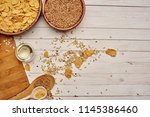 flakes oatmeal  cereals     ... | Shutterstock . vector #1145386460