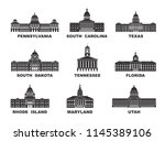 united states of america.... | Shutterstock .eps vector #1145389106