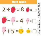 math educational game for... | Shutterstock .eps vector #1145389286