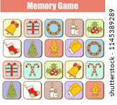 memory game  christmas  new... | Shutterstock .eps vector #1145389289
