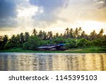 sky after rain and countryside... | Shutterstock . vector #1145395103