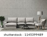 3d rendering of living room... | Shutterstock . vector #1145399489