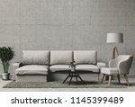 3d rendering of living room...   Shutterstock . vector #1145399489