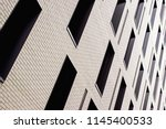 abstract angled office building ... | Shutterstock . vector #1145400533