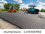 laying a new asphalt on the... | Shutterstock . vector #1145400983
