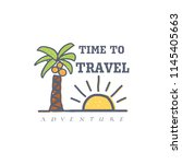 time to travel  banner for... | Shutterstock .eps vector #1145405663