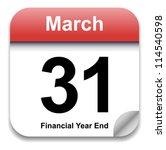 calendar date   march 31st ... | Shutterstock .eps vector #114540598