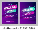 vector layout design template... | Shutterstock .eps vector #1145411876