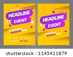 vector layout design template... | Shutterstock .eps vector #1145411879