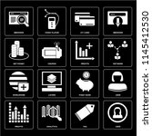 set of 16 icons such as user ...