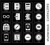 set of 16 icons such as unlink  ...