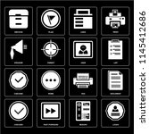set of 16 icons such as login ...