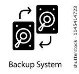 a fixed data storage device... | Shutterstock .eps vector #1145414723