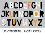 set of alphabet design   Shutterstock .eps vector #1145414969
